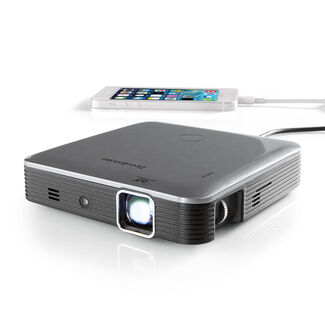 Brookstone Pocket Projector Pro with DLP® IntelliBright™ Technology—200 Lumens